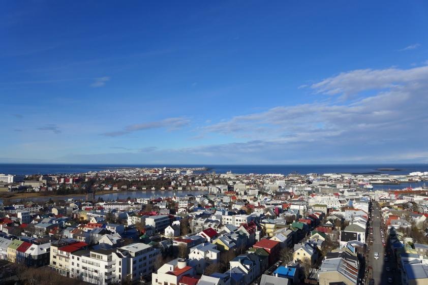 Reykjavik from Hallgrímskirkja
