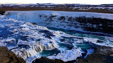 Icy Gullfoss Upper Banks
