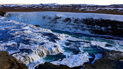 Icy Gullfoss Upper Banks