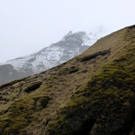 Mountainside and Hillside at Skógafoss