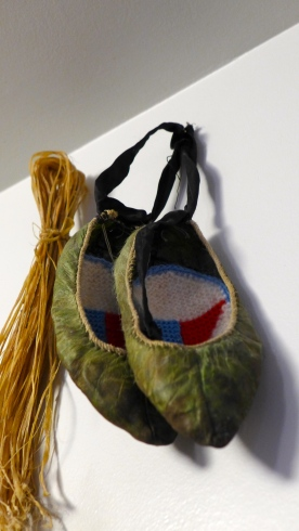 Fish Skin Shoes with Knitted Liners at Skógar Museum