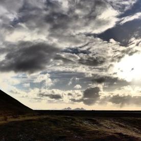Vestmannaeyjar from Seljalandsfoss