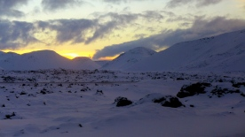 Snow Covered Sunset South of Reykjavik