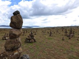 Cairn field en route to Thingvellir… we're on the right track!