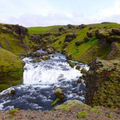 ANOTHER waterfall above Skogarfoss